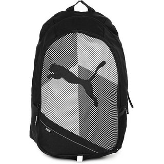 Puma Unisex Black  White Echo Plus Backpack Bag
