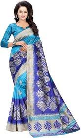 MAYSUR BLUE (ART SILK)NEW -INDIAN-DESIGNER-PARTY-WEAR-Peria AppareL 1 TIME
