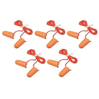 ORIGINAL 3M EAR PLUG CORDED FORM-NOISE REDUCTION-DOESNOT BLOCK SOUND COMPLETELY(5 pieces)