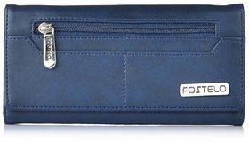 Fostelo Women's Versatile Clutch  (Blue) (FC-10)