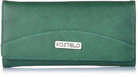 Fostelo Women's Sunrise Clutch  (Green) (FC-11)