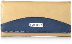 Fostelo Women's Sunrise Clutch  (Beige) (FC-12)