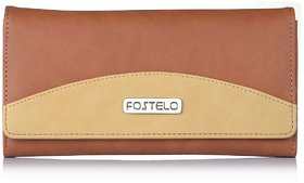 Fostelo Women's Sunrise Clutch  (Tan) (FC-15)