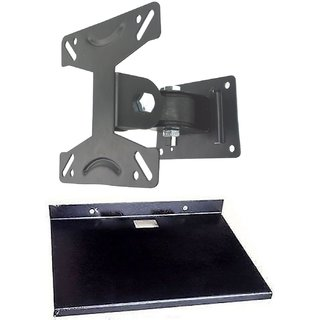 Buy Lcd Led Tvs Wall Stand 14 To 24 180 Degree Rotation Bracket Tilt