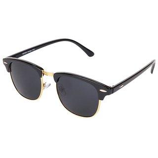 Aligator Black UV Protection ClubMaster Unisex Sunglass