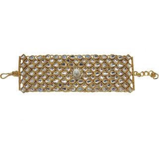 5a5b7a4eab20a Chrishan gold plated Designer kundan bracelet for women