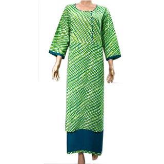 4Sisters Rayon & Cotton Lahriya gown