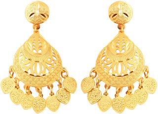 Vighnaharta Paree Gold Plated Alloy Dangling Earrings for Women and Girls- VFJ1027ERG