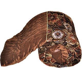 shoppingtara Jaipuri Floral Single Bed Golden Velvet Quilt -504