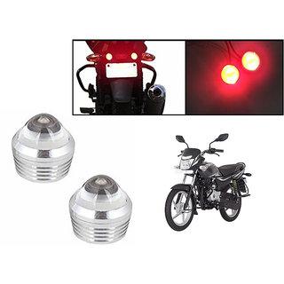 Himmlisch Bike Red LED Projector Strobe Brake Lights Set Of 2  For Bajaj Platina