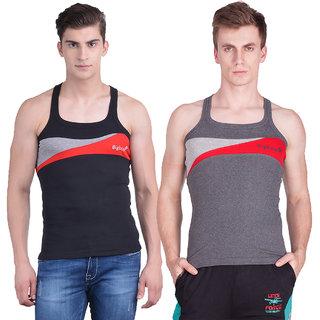 Dollar Bigboss Men's Gym Vest Pack of 2