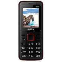Intex Eco 205 Dual Sim Mobile Phone Black+Red