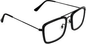 Zyaden Black Rectangular Unisex Eyewear Frame 375