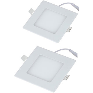 PARTH LED PANEL 6W SQUARE 2PCS WHITE  WITH 2YEAR WARRANTY