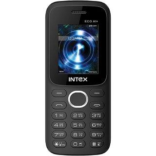 Intex Eco A1 Plus Dual Sim Mobile (Black+Red)