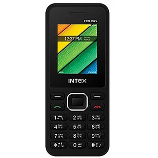 Intex Eco 102+ Dual Sim Mobile Phone Black