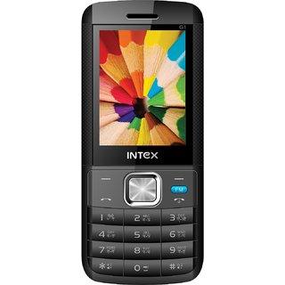 Intex Lion G1 Dual Sim Mobile Phone Black+Blue