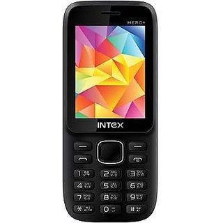 Intex Hero Plus Dual Sim Mobile Phone Black+Grey