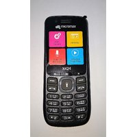 Micromax X424 Dual Sim Mobile Phone Black+Grey