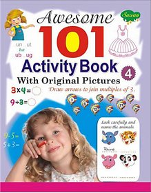 Awesome 101 Activity Book 4 (With Original Pictures) Children Learening Books