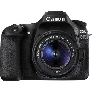 Canon EOS 80D DSLR Camera with EF-S 18-55mm f/3.5-5.6 IS...