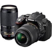 Nikon D5300 DSLR Camera with AF-P DX 18 - 55 mm f/3.5-5.6G VR & AF-P DX 70-300 mm f/4.5-6.