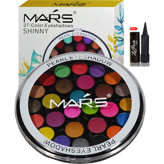 Mars 27 color Eyeshadow With Laperla Kajal