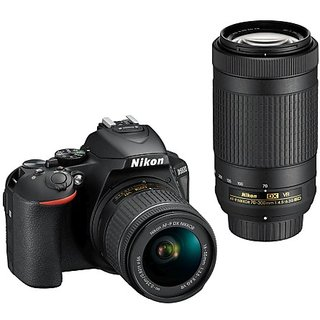 Nikon D5600 with AFP 18-55mm & 70-300mm VR Lens DSLR...