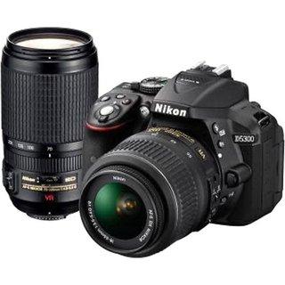 Nikon D5300 DSLR Camera with AF P DX 18   55 mm f/3.5 5.6G VR   AF P DX 70 300 mm f/4.5 6. DSLR Cameras