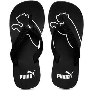 Buy Puma Colaba Men s Black and White Slippers Flip Flops Online ... e3926ec60