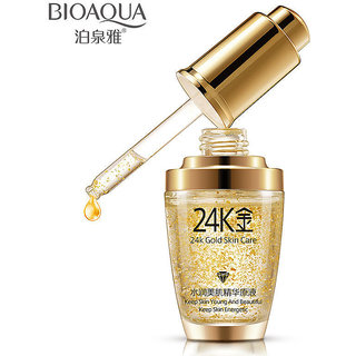 24k Gold Facial Skin Care Anti wrinkle, Anti-Ageing Face Moisturizing Serum