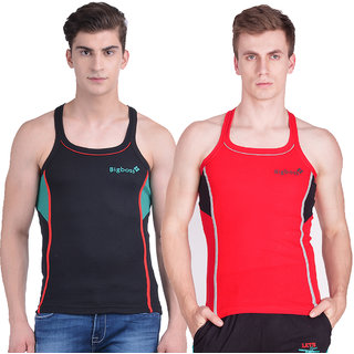 Dollar Bigboss Men's Gym Vest Pack of 2