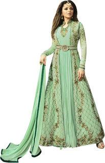 Fashion Hub Sea Green Georgette Anarkali salwar Kameez