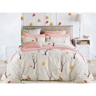 Bedsheet Queen Size (5 Piece Combo Set of Double Luxurious Reversible Queen Size Bedsheets with 4 Pillow Covers)