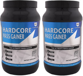GXN Hardcore Mass Gainer 3lb, Multi Flavou - Pack Of 2
