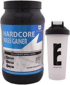 GXN Hardcore Mass Gainer 3lb, Multi Flavou & Branded Sh