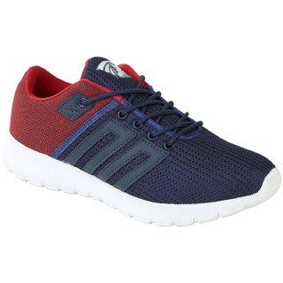 Baton Men Blue Red Sports Shoes