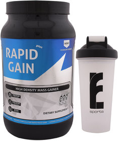 GXN Rapid Gain Plus 3lb, Vanilla Creme' & Branded Shake