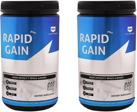 GXN Rapid Gain Plus 1lb, Multi Flavou - Pack Of 2
