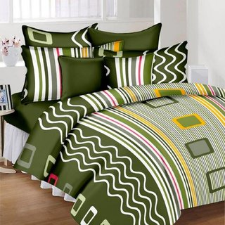 KHF Cotton Double Bedsheet with 2 Pillow Cover