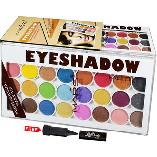 Mars Matte Eye shadow Professional Make-Up Platte 87017-02 With Free LaPerla Kajal Worth Rs.125/