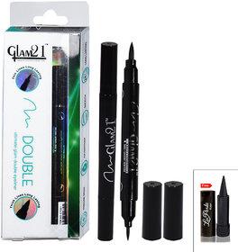 GLAM21 DOUBLE Ultimate glam Eyeliner With Laperla Kajal