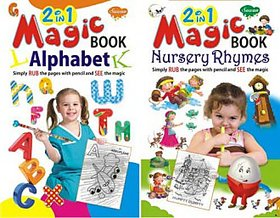 2 in 1 Magic Books Alphabet & Nursery Rhymes books