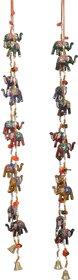 Fashion Bizz Handicraft Rajasthani Elephant Wall / Door Hangings Screen  Toran