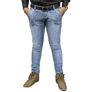 Taco Men's Blue Regular Fit Jeans