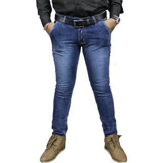Taco Men's Blue Regular Fit Jeans
