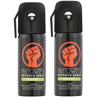 IMPOWER Self Defense Pepper Spray 12 Feet 45 Shot 55 ML pack of 2