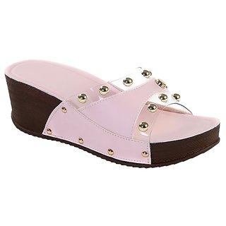Meia Women Pink Wedges