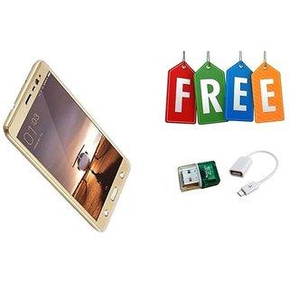 Moto G5 360 Degree Full Cover + Card Reader + OTG Cable - Golden  - Super Value Combo Offer