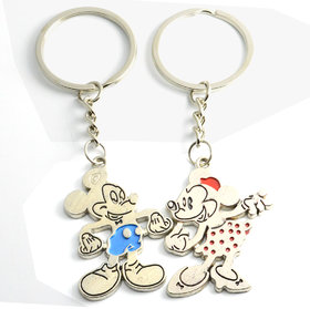 Faynci Mickey mouse  Minnie Couple Key Chain Gift for Valentine Day
